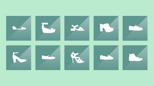 Free vector shoes, hats and bags icons