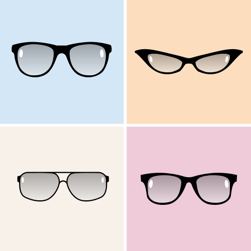 Vector Glasses Icons