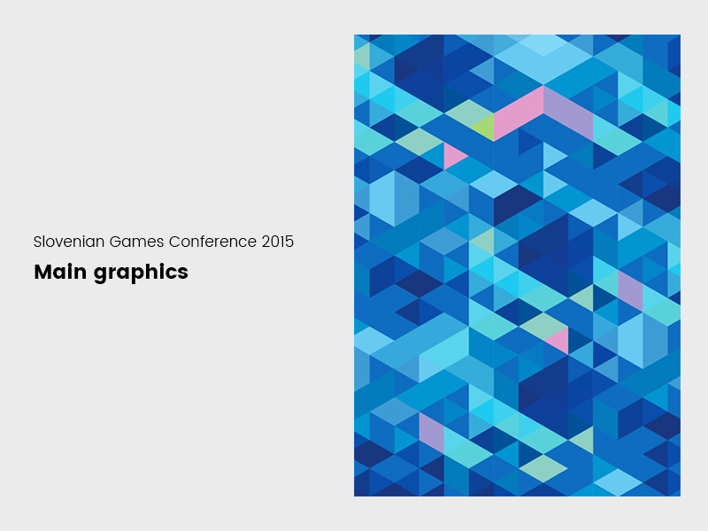 Main graphics for Slovenian Games Conference