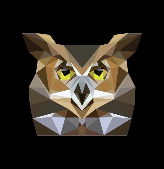 Triangle animals illustration