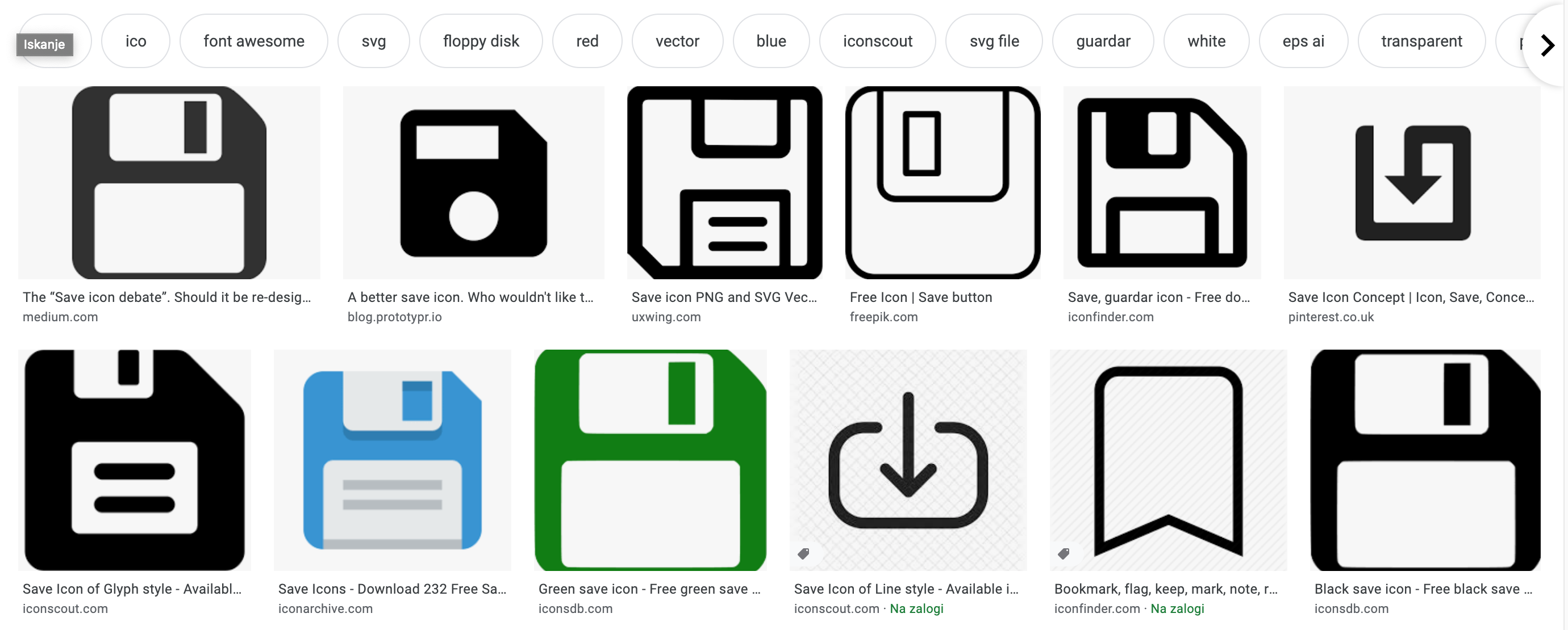 Enhancing recognition of web icons